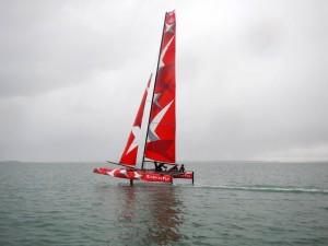 catamaran foiler